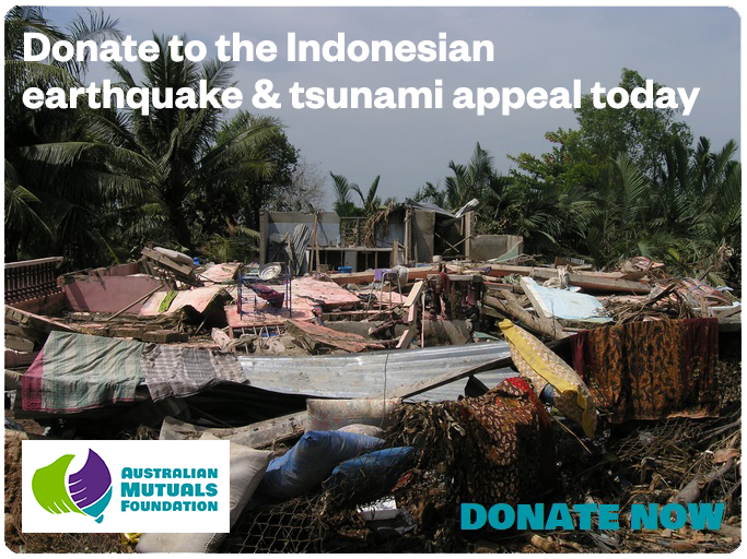 Donate to the Indonesian Earthquake and Tsunami Appeal Today